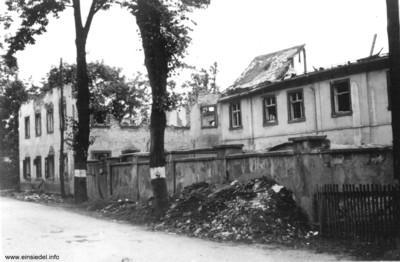 Ruine der Druckerei Baßler 1945