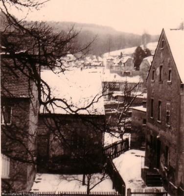 Nebengebäude der Hauptstr. 87 in Einsiedel noch mit Satteldach