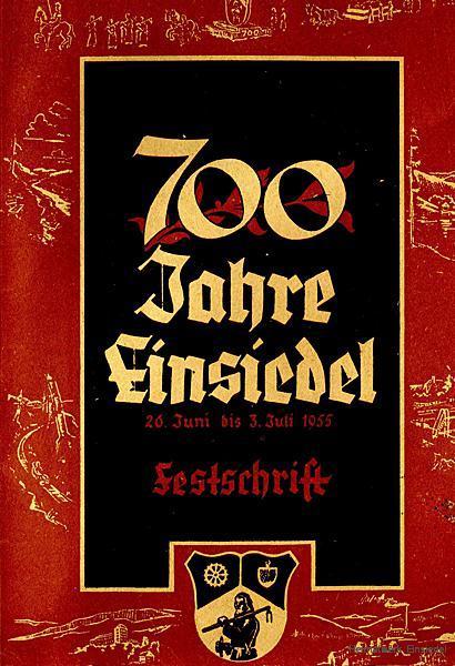 """Das """"Einsiedler Brauhaus in Verwaltung"""" präsentiert sich zur 700-Jahr-Feier in Einsiedel 1955 im Festumzug"""
