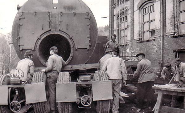 Lieferung von Dreizugkesseln im Einsiedler Brauhaus (volkseigen) im Herbst 1973