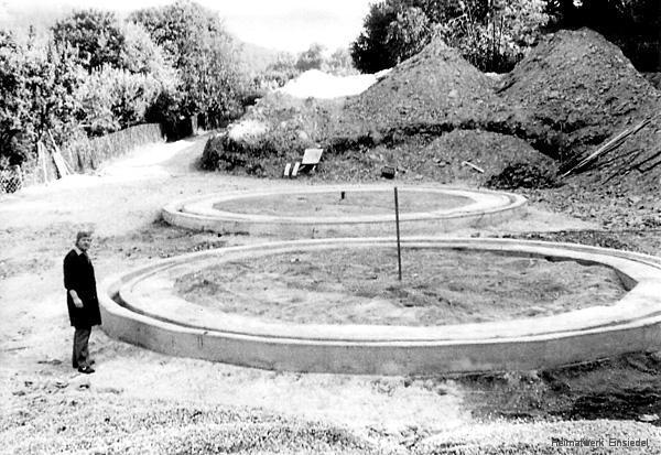 Fundamente für Heizöllagertanks im volkseigenen Einsiedler Brauhaus im Sommer 1973