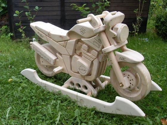 KinderMotorrad aus Holz  HeimwerkerAktuellde