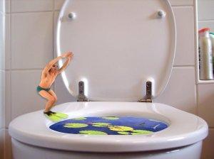 Wandhanegendes WC montieren