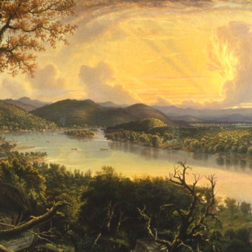 Evening of Braddock's Defeat by William C. Wall, 1856
