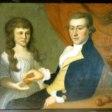 """Portrait of Dr. Felix and Anne Elizabeth """"Betsy"""" Brunot, by Charles Willson Peale"""