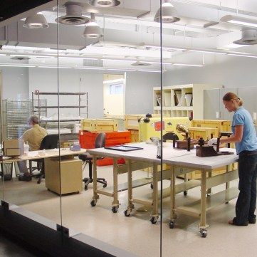 Conservation Lab, Special Collections Gallery