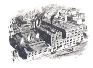 ALT:Exterior of first Westinghouse Plant on Garrison Alley in Pittsburgh, Pa., c. 1893