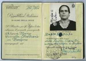 ALT:Italian Passport of Maria Furfaro, 1954