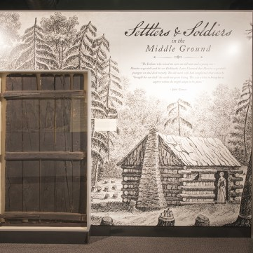 Settlers & Soldiers in the Middle Ground, Captured by Indians, Fort Pitt Museum