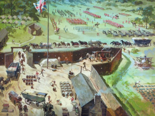Troops Assembling at Fort Bedford, by Nat Youngblood