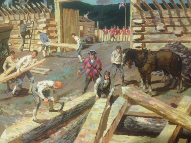 Construction of Fort Ligonier, by Nat Youngblood