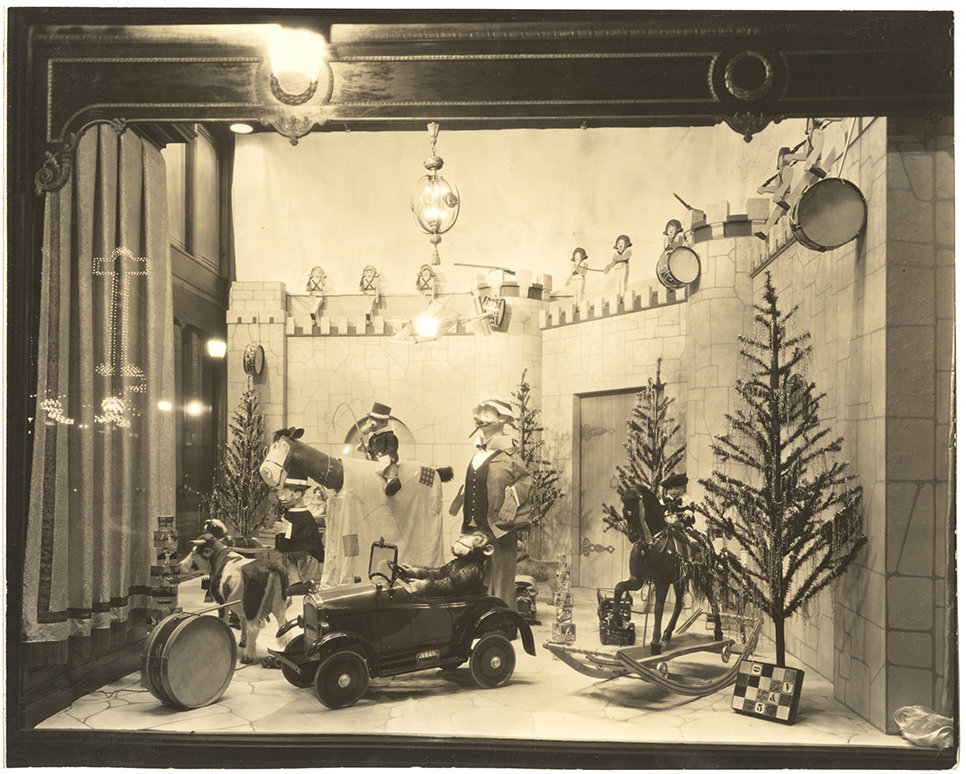 "Kaufmann's Christmas window, ""Toyland"" theme, c. 1926-1928. Gift of Kaufmann's Department Store, MSP #371, 2002.0158, Heinz History Center."