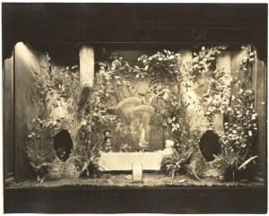 "Kaufmann's Christmas window, ""Alice in Wonderland"" theme, c. 1926-1928. Gift of Kaufmann's Department Store, MSP #371, 2002.0158, Heinz History Center."