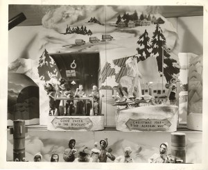 "Kaufmann's Christmas window, ""An American Christmas on Every War Front,"" 1943. Gift of Kaufmann's Department Store, MSP #371, 2002.0158, Heinz History Center."