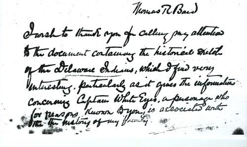 Thomas Bard letter   Fort Pitt Museum Blog