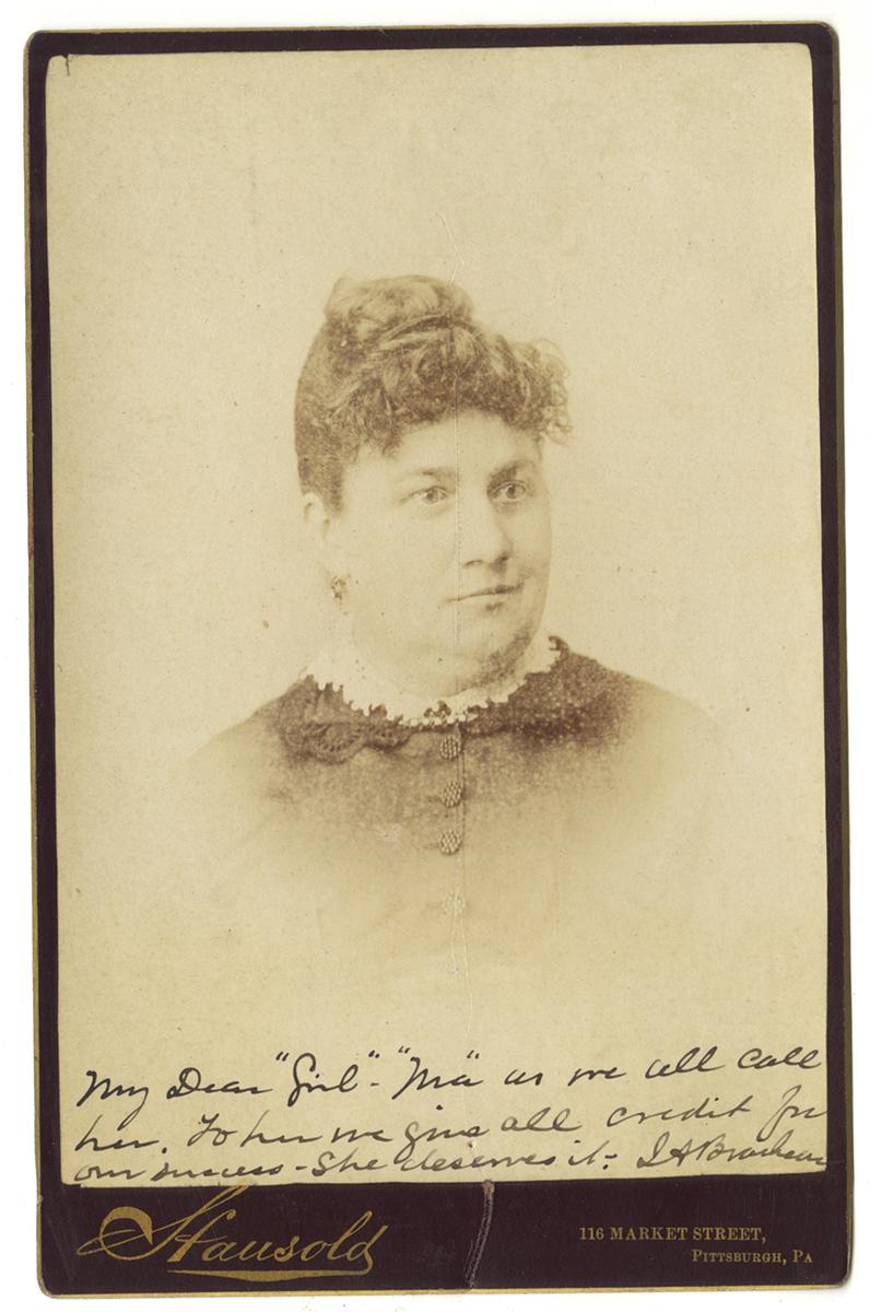 Cabinet card of Phoebe Brashear, Heinz History Center