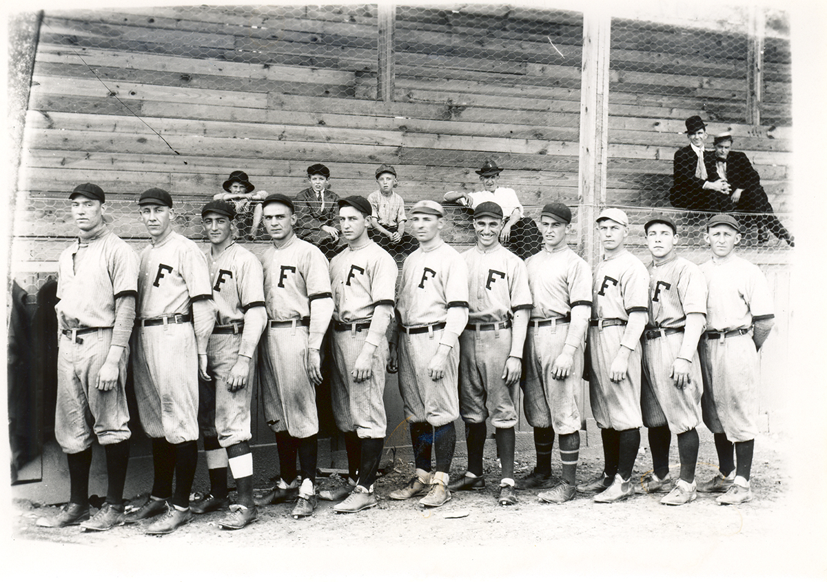 France's photograph of the Fairmont Fairies, who were the 1912 champions of the Ohio-Pennsylvania League.