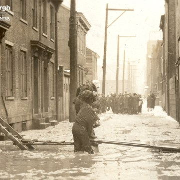 Rescue in Lawrenceville during the St. Patrick's Day Flood, 1936. | pixburgh: a photographic experience, Heinz History Center