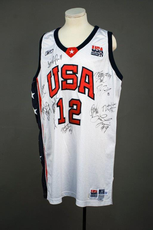 U.S. Olympic Women's basketball jersey, 2004. Gift of Robert Gallagher.