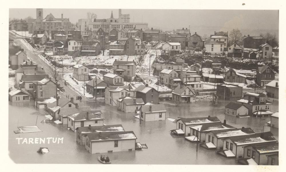 Postcard of Tarentum, Pa., 1936 flood. | St. Patrick's Day Flood | Heinz History Center