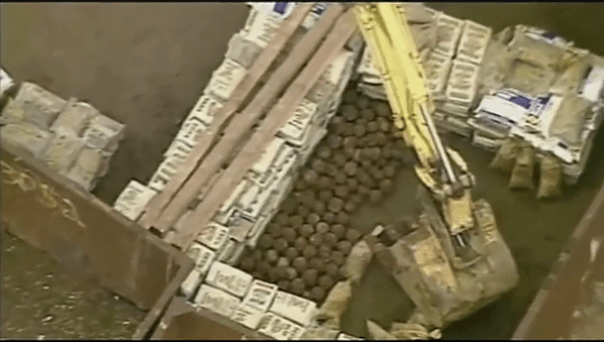 The Department of Public Safety, along with the contractor, Milhaus, has sandbagged and secured more than 300 cannonballs at the Allegheny Arsenal site.
