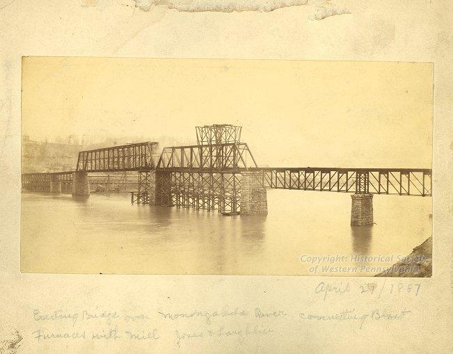 Hot Metal Bridge, April 27, 1887, Frederick T. Gretton Photographs, Detre Library & Archives at the History Center