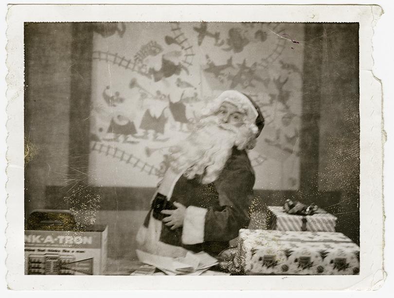This Polaroid from 1961 shows Heid as Santa on WTAE-Channel 4. Photo courtesy of Jim Heid.