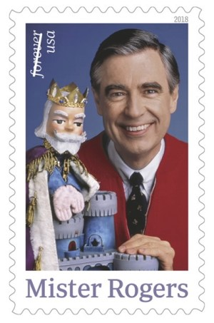 Mister Rogers postage stamp, 2018. Courtesy of the U.S. Postal Service.