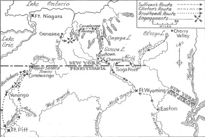Campaign Map | Fort Pitt During the Revolutionary War: General Brodhead's Expedition