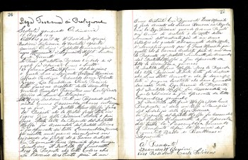 Pages from the Lega Toscana Meeting Minutes, 1919-1925