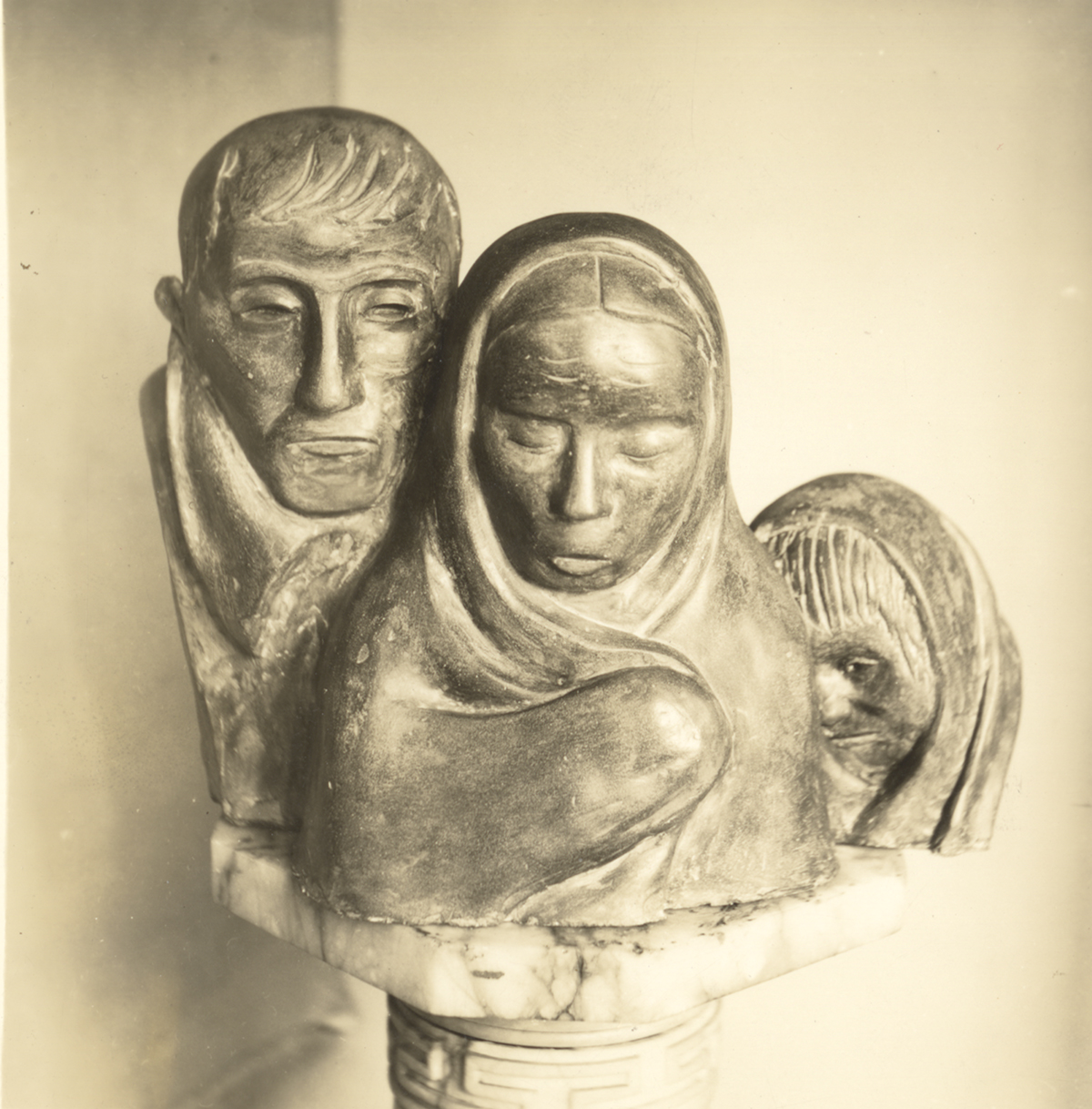 A photo of Sybil Barsky's work Refugees. Sibyl Barsky Grucci Photographs, MSP 423, Detre Library & Archives at the History Center. Gift of Sibyl Barsky Grucci.