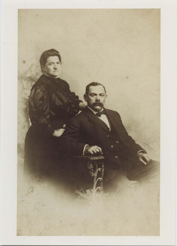 Annie Jacobs Davis with her husband, Barnett Davis.