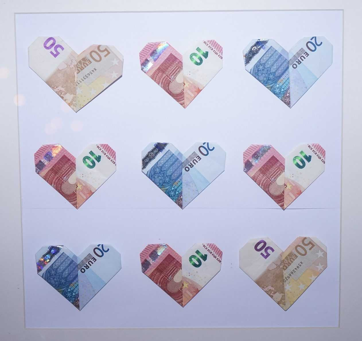 Schner schenken und Geldscheine falten Das Herz