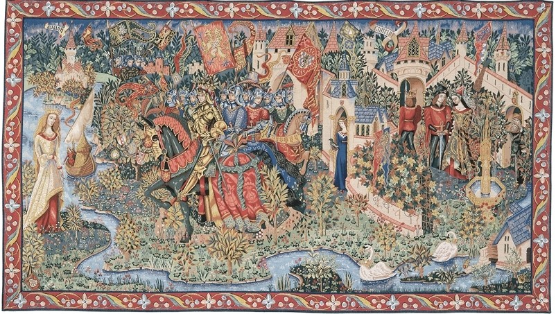 Legend of King Arthur Tapestry Tapestry Fabric Wall Hangings Custom  Tapestries