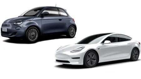 Tchibo bietet Tesla Model 3 und Fiat 500e im E-Auto-Abo an