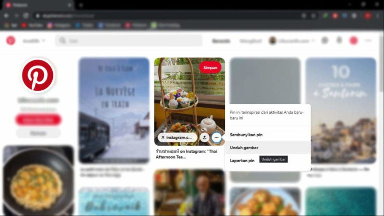 Cara Download Gambar Di Pinterest