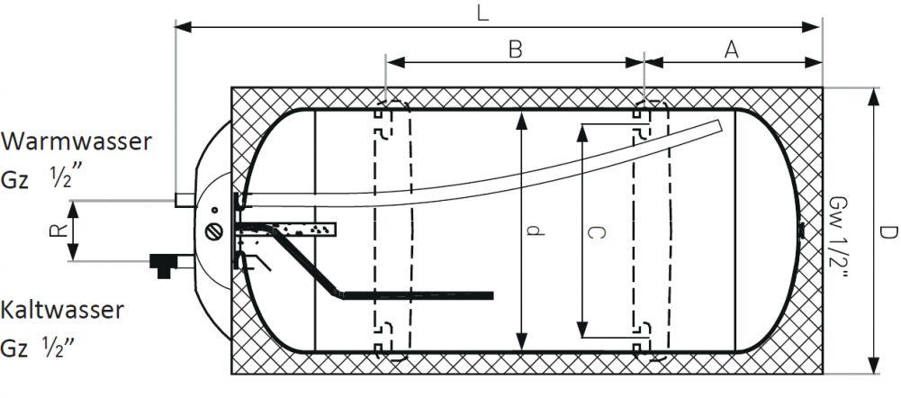 Warmwasserboiler 10 Liter. 5 liter elektro boiler
