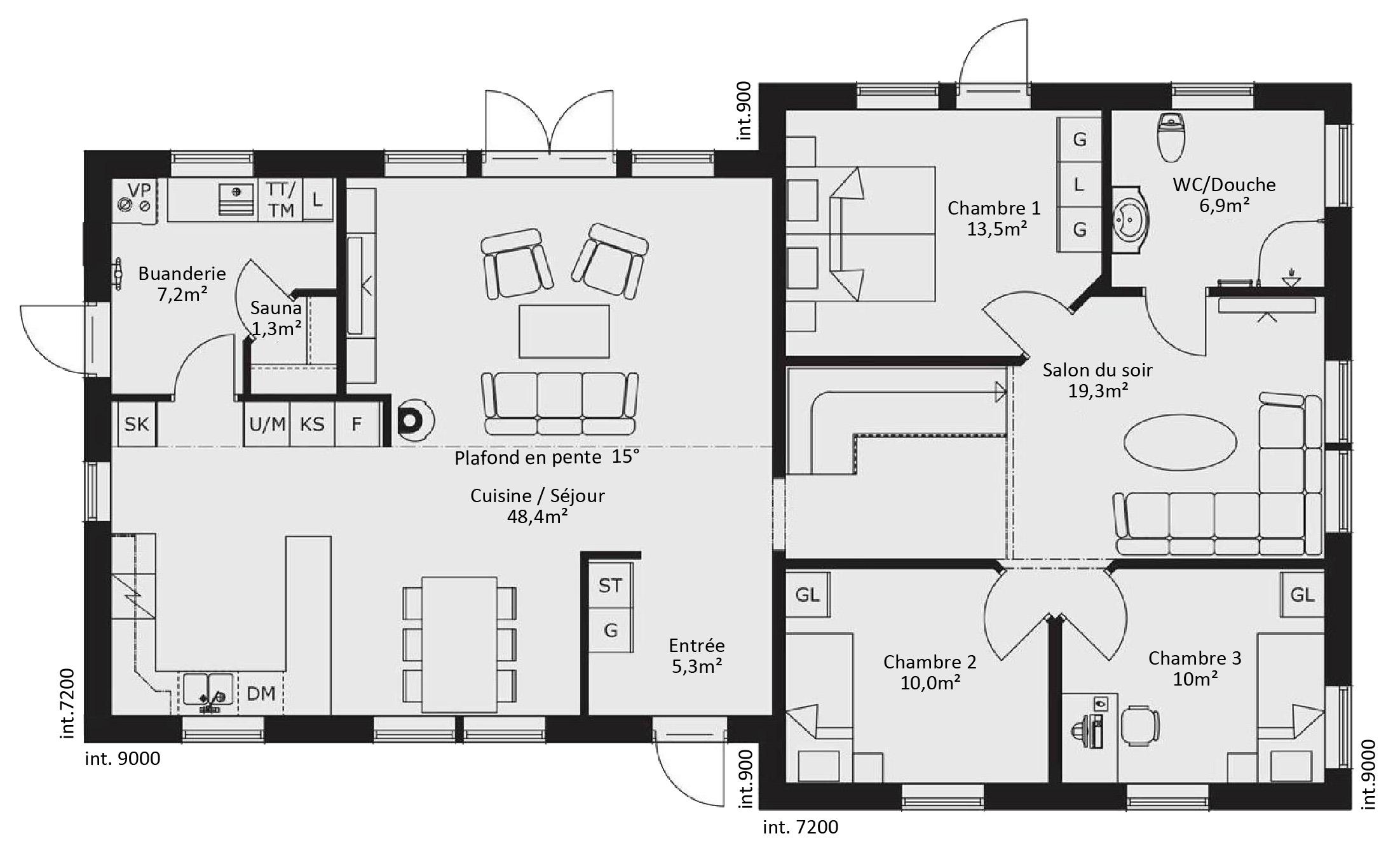 Plan maison en bois contemporaine maison moderne for Plan maison moderne en bois