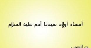أسماء أولاد سيدنا آدم عليه السلام
