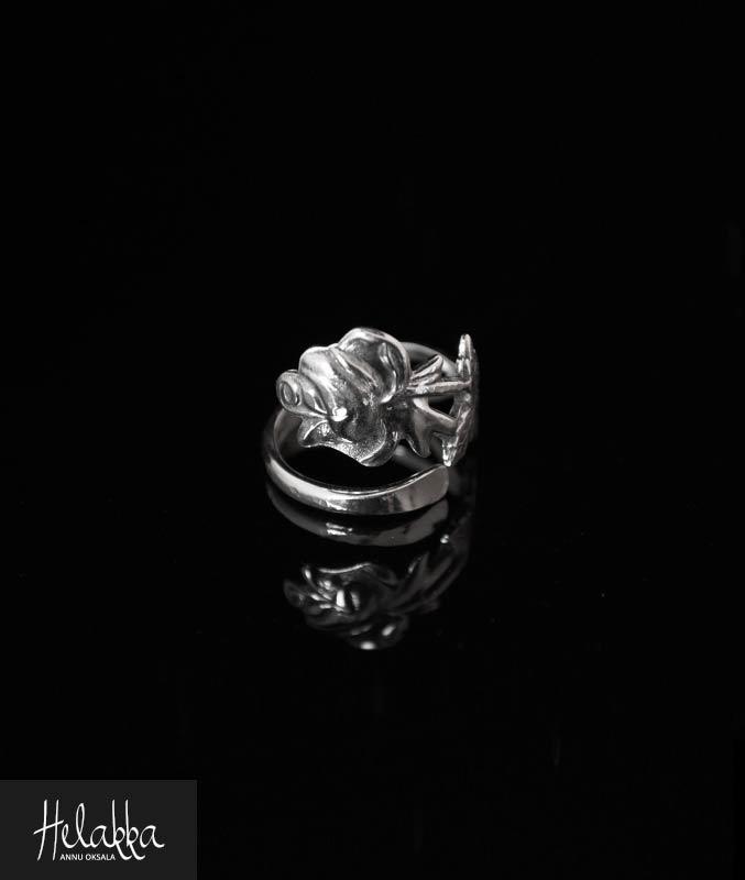 Hopeasormus hopealusikasta ruusu