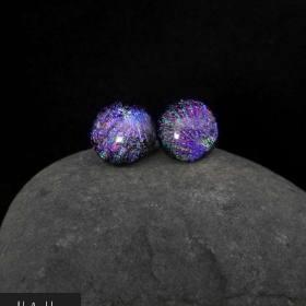 teräskorvakorut lasista Helakka violetti
