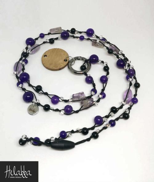 Helakka avainnauha, avainkoru violetti