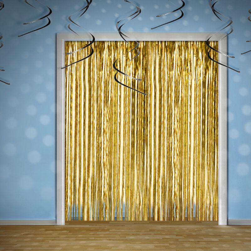 Vorhang Lametta gold  helavikde