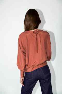 blouse betty terracotta