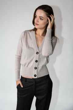 knitwear kara cardigan grey