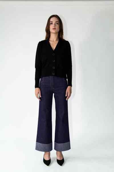 knitwear cara cardigan black