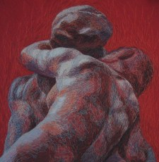 Kiss - Passion, 2010, 73 x 73 cm, myyty