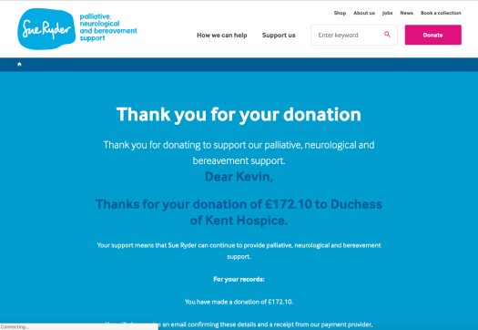Sue-Ryder-20190506-112947 donation confirmation