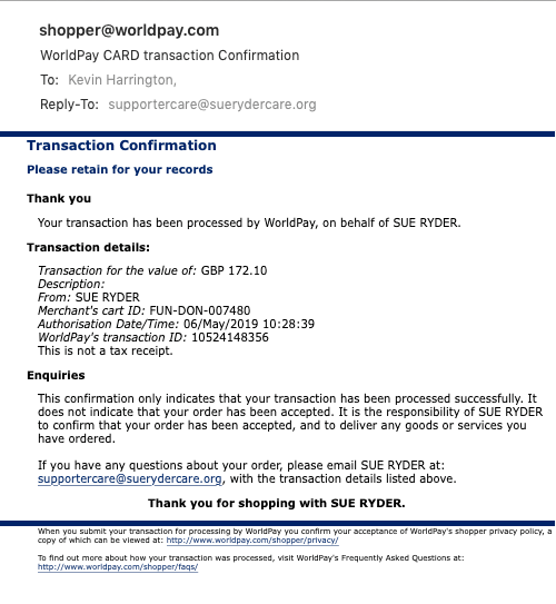 Sue-Ryder-20190506-113019 donation confirmation