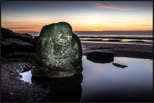 The Sea Ogre at Sunset Cleveleys Mythic coast